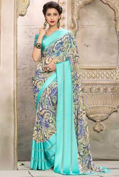 Fancy Printed Saree