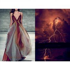 Blog ⚡PHOTO & L' ART⚡ • Leanne Marshall Fall 2015. Photo by Dan Lecca via fashionverified.com @fashionverifiedmag • & • Thunderstorm with lightning. Photo via pinterest.com (author unknown) • Dress: @leannemarshallofficial #LeanneMarshall All collages by tag ;) #LiliyaHudyakova