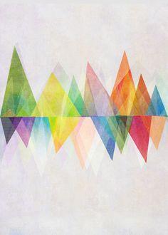 Triangulation / Graphic 37 Art Print — Designspiration