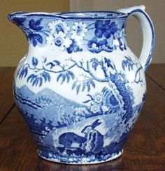 Unattributed Maker - Grazing Rabbits - Jug or Pitcher c1830