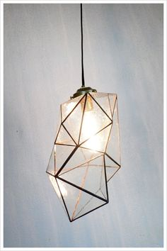 Faceted Pendant | via Shibori Lover (Tumblr). #GISSLER #interiordesign