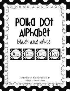 Black & White Polka Dot Alphabet