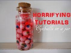 HALLOWEEN: Bottle charm: Eyeballs in a jar - YouTube