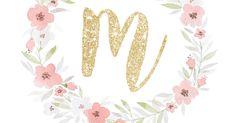 Glitter Initial Wall Art - M.jpg