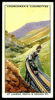 "https://flic.kr/p/kZyK6W | Cigarette Card - Lumbwa, Kenya & Ungandan Railway | Churchman's Cigarettes ""Empire Railways"" (series of 50 issued in 1931) #5 Lumbwa, Kenya & Ungandan Railway"
