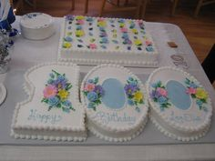 Our dear friend Lee Ella Moore's 100th birthday cake. Isn't it beautiful?
