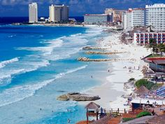 Cancun attracts more tourists then any other city in Mexico; about 3 million people take Cancun vacations annually. Cancun is famous for the incredible beaches, stunning views, access to ancient civilizations and plenty of exciting activity. Vacation Places, Vacation Destinations, Dream Vacations, Vacation Spots, Places To Travel, Cancun Vacation, Family Vacations, Mexico Vacation, Vacation Packages