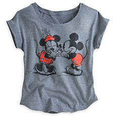 Mickey and Minnie Mouse Fashion Tee for Women