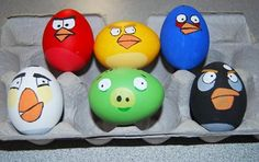 Angry Birds Easter eggs -- we have a feeling that kids and adults will love these little birdies!
