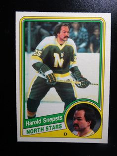 1984 O-Pee-Chee #108 Harold Snepsts Minnesota North Stars Hockey Card #OPeeChee #MinnesotaNorthStars