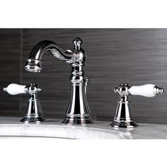 Classic Widespread Chrome Bathroom Faucet