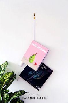 Fall For DIY Magazine Hanger tutorial