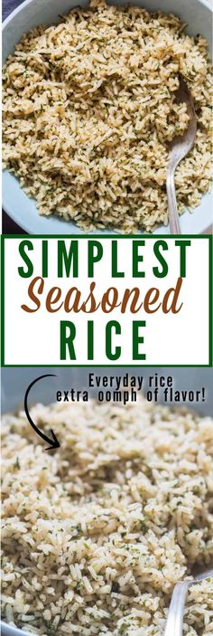 Homemade Seasoned Rice - - Forgo store bought rice box mix, make your very own and best homemade seasoned rice recipe. It's super easy, well under the budget and you get to adjust the flavors according to your taste. Seasoned Rice Recipes, Sushi Rice Recipes, Brown Rice Recipes, Rice Side Dishes, Side Dishes Easy, Side Dish Recipes, Easy Recipes, Dinner Recipes, Ravioli Sauce