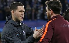 """Eden Hazard on this picture: """"Who is he? There's only one 🐐: Lionel Messi! My eldest son is a big fan of Messi - in my little family we all are in fact. He's a special player. Together with my kids I regularly watch the big players: Messi, Ron Neymar, Latest Nigeria News, Football Troll, Eden Hazard, Lionel Messi, Ronaldo, New Trends, All About Time, Sons"""