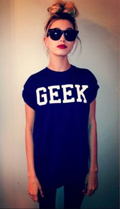 geek chic. This made me think of Faith Heitman - not sure why? hee hee