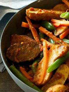 New Potato Rendang & Green Beans Recipe - Click the image for the Recipe