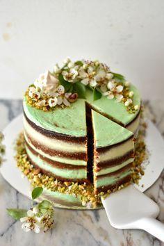 Pistachio Cake with Buttercream and Lima Vanilla