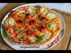 Hakiki pizza hamuru nasıl yapılır? İtalyan pizzası nasıl yapılır hamuru ... Wie Macht Man, Homemade Beauty Products, Love Food, Quiche, Tea Time, Food And Drink, Breakfast, Youtube, Gourmet
