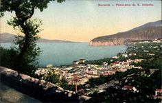 Ansichtskarte / Postkarte Sorrento Campania, Panorama da S. Antonio, Gesamtansicht der Stadt