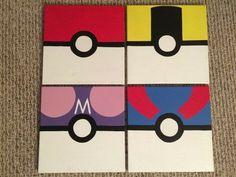 Pokemon Pokeball Pocket Monsters Hand Painted by KaleyCrafts