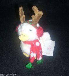 NEW-6-AFLAC-2012-CHRISTMAS-REINDEED-TALKING-PLUSH-DUCK-STUFFED-ANIMAL-TOY-MACYS