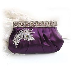 wedding clutch bridesmaid clutch Purple clutch by BijouxandCouture, $88.00