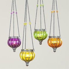 Small Melon Lanterns eclectic outdoor lighting to hang in the trees - @ Cost Plus World Market