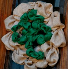 No Sew St. Patrick's Day Wreath (the center can easily be changed out for the next holiday...also, NO SEW!)
