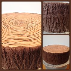"Love the way this log cake looks! Maybe ""carve"" their initials in the side?"