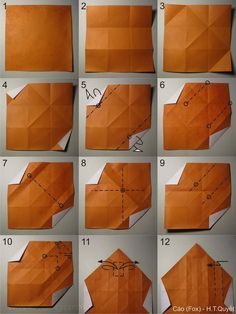HOANG TIEN QUYET — Foxes 2009 Wet-folded from 1 uncut square each...