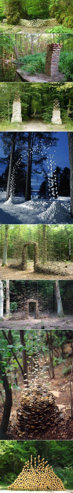 Gravity-defying sculptures by Cornelia Konrads | memolition #art #nature #sculptures #naturalmaterials #gravity #beautiful #outdoors #mindblown