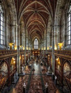 In The Friedrichswerder Church, first Neo-Gothic church built in Berlin, Germany