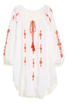 H&m.new collection.inspired from Romanian traditional blouses..love it!