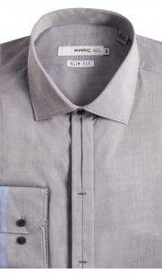 Dalton Button Cuff Dress Shirt - Grey