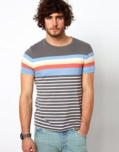 Enlarge ASOS Stripe T-Shirt With Crew Neck