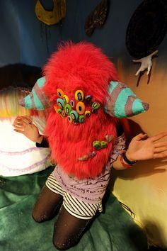 Many-eyed monster mask. 目が沢山あるのお化けマスク。Design Festa