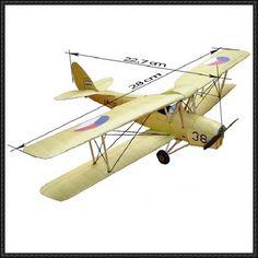 De Havilland DH 82 Tiger Moth Free Airplane Paper Model Download