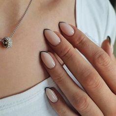 Frensh Nails, Oval Nails, Nail Manicure, Pink Nails, Black Nails, Coffin Nails, Nail Polishes, Nude Nails, Matte Nails