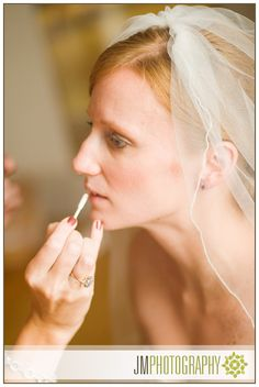 Bride's Wedding Hair & Makeup | Photographed at the Eisenhower House | New England Wedding Photography |