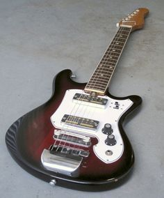 Vintage 1960's Teisco Prestige Guitar w/ Gold Foil Pickups, via CathodeBlue on Etsy, 375.00