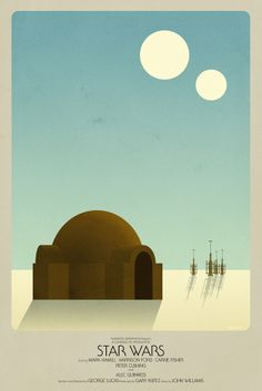 Star Wars Episode IV A New Hope Poster by Timothy Anderson
