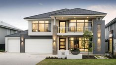 Modern canada house design with duplex house designs 1300 sq ft and modern patio brisbane also modern tiny house exterior - Kitchen Ideas Double Storey House Plans, Double Story House, Two Story House Design, 2 Storey House Design, Duplex House Design, House Front Design, Modern Exterior House Designs, Tiny House Exterior, Modern House Facades