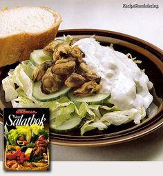 Mussels Salad with Cheese Sauce / Blåskjellsalat med Ostesaus