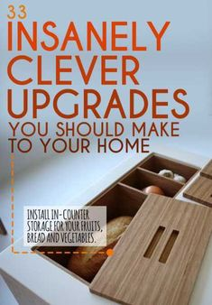 33 Insanely Clever Upgrades To Make To Your Home.love the ideas for outlets too. DIY Home remodel. Home Upgrades, Home Improvement Projects, Home Projects, Home Renovation, Home Remodeling, Regal Design, Home Repairs, Cool Ideas, Amazing Ideas