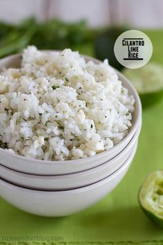 Cilantro Lime Rice on Taste and Tell