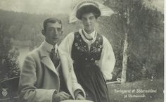Their Royal Highnesses Prince Wilhelm and Princess Maria Pavlovna of Sweden. This was Maria's first husband. She was raised by the Tsarina Alexandra's sister Ella and Ella's husband Sergei.  Her brother Dmitry was one of the assassins of Rasputin.  Maria and her brother Dmitry escaped the revolution and went on to live in Paris.  Dmitry eventually became one of Coco Chanel's lovers.