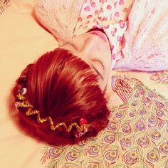 Photo by Autumn de Wild #redhead #bangs