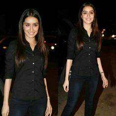 Shraddha Kapoor in black