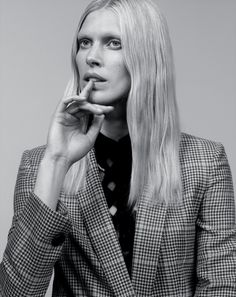 cool Iselin Steiro rocks plaid and argyle for The New York Times T Style Magazine February 2016 by Craig McDean  [fashion]