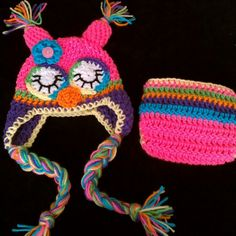 Rainbow sleepy owl set